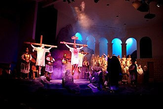 Passion Play - Crucifixion scene during the 2010 production of the Passion Play ''The Promise: The Power of His Love'' in Fond du Lac, WI.