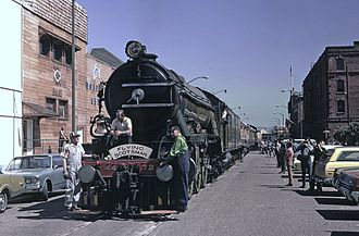 LNER Class A3 4472 Flying Scotsman - Flying Scotsman at Fisherman's Wharf, San Francisco, March 1972