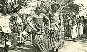 Celebration at Abomey, 1908.