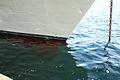 La proa del buque. Tenía el ancla echada. La marea estaba muy alta (16626733765).jpg