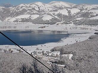 Laceno - Laceno and lake in winter