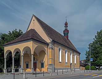 Lachen, Switzerland - Image: Lachen, kerk foto 4 2014 07 19 17.02