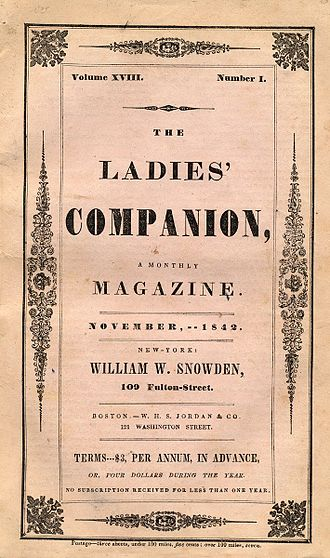 The Mystery of Marie Rogêt - Image: Ladies' Companion Nov 1842 Roget