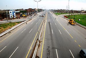 Lahore Ring Road - A section of the Lahore Ring Road.