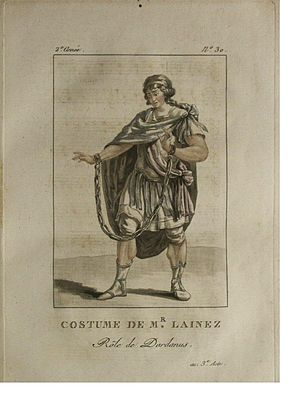 Dardanus (Sacchini) - Étienne Lainez, leading tenor of the Académie Royale de Musique, in the costume of Dardanus