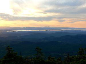Mount Abraham (Vermont) - View of southern Lake Champlain from the summit