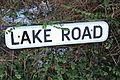 Lake Road sign, County Down, January 2010.JPG