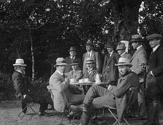 1915 in Denmark - Some of the founders of the Society for Better Building Practices photographed during the founding meeting in Odense in June 1915