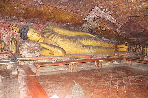 Large landscape Buddha image Sri Lanka