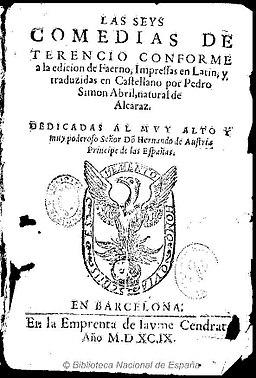 Las seys Comedias de Terencio 1599 Faerno