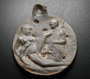 Brothel - A 19th-century lead alloy brothel token