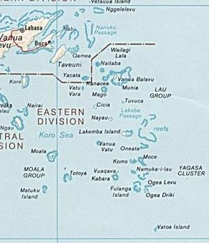 Lakeba - Map of Fiji