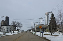 Looking north at LeRoy