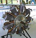Le Rhone C-9J engine - Evergreen Aviation & Space Museum - McMinnville, Oregon - DSC00529.jpg