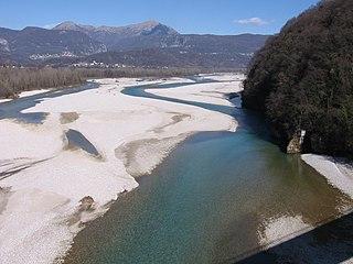 Tagliamento river in Italy