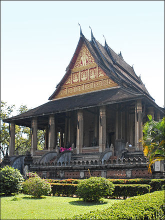 Lao rebellion (1826–28) - Haw Phra Kaew, Vientiane. Former Royal Temple of the Emerald Buddha.