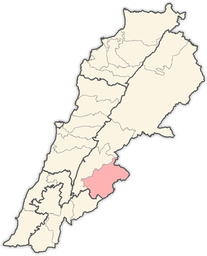 Rashaya District - Image: Lebanon districts Rashaya