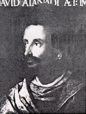 Dawit II - Contemporary portrait of Lebna Dengel by Cristofano dell'Altissimo