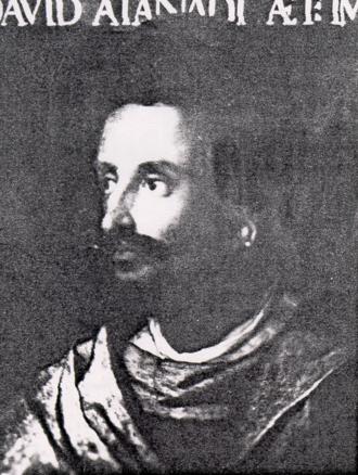 Dawit II - Contemporary portrait of Lebna Dengel by Cristofano dell'Altissimo