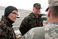 Legal advisers with the Slovenian army discuss training procedures with U.S. Army Maj. Marc Washburn, right, the senior judge advocate officer in charge at the Joint Multinational Readiness Center in Hohenfels 130314-A-WZ615-664.jpg