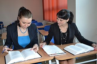 Legal clinic - Students working on a case in a student's legal aid office, Palacky University