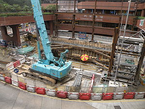 Lei Tung Station Exit B construction site (taken from east).JPG