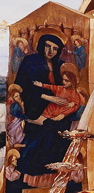 Cimabue's Celebrated Madonna - Image: Leighton's version of Rucellai Madonna