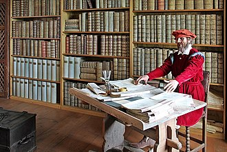 Amtmann - An Amtmann in his office or Amtsstube. Reconstruction at Mildenstein Castle (administrative seat in the Amt of Leisnig)