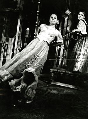 Bianca Minola - Lenka Pichlíková as Bianca and Dagmar Veškrnová as Katharina in The Taming of the Shrew (Jiří Wolker's Theatre Prague)