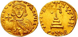 Siege of Constantinople (717–718) - Gold solidus of Leo III