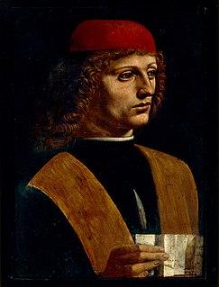 <i>Portrait of a Musician</i> Unfinished painting by Leonardo da Vinci (1483–1487)