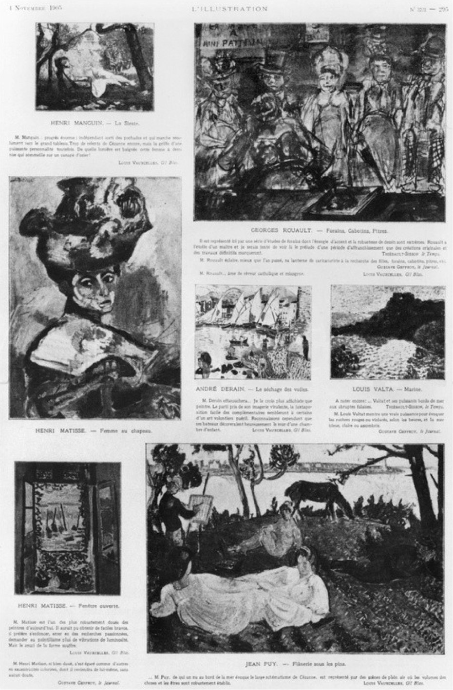Les Fauves, Exhibition at the Salon D'Automne, from L'Illustration, 4 November 1905