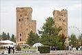 Les vestiges du palais de Tamerlan (Shahrisabz) (6018352063).jpg