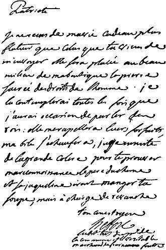 Jacques Hébert - Image: Letter Hebert Palloy