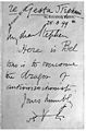 Letter from Sir V. Horsley to Sir Stephen Paget dated 25.3.9 Wellcome M0016214.jpg