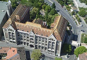 National Archives of Hungary - Aerial photography of the building