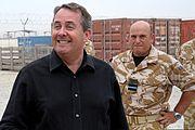Liam Fox with Air Marshal Stuart Peach