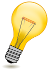 Light bulb icon tips.svg