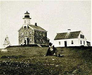Plum Island (New York) - George Bradford Brainerd (American, 1845-1887). Lighthouse Keeper, Plum Island, Long Island, 1879. Collodion silver glass wet plate negative. Brooklyn Museum