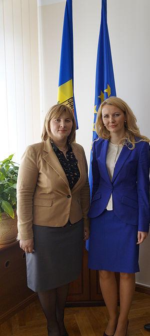 Liliana Palihovici - Image: Liliana Palihovici and Inese Lībiņa Egnere (cropped)