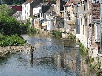 Vesdre - Limbourg, fisherman in the Vesdre river