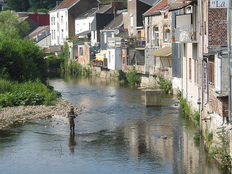 Limbourg (Belgium), the lower part of the city and the Vesdre river.
