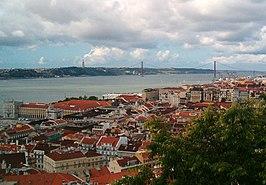 Lissabon en de Taag.