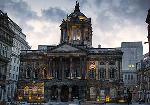 Liverpool Town Hall - Liverpool Town Hall at night