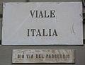 Livorno Viale Italia street name 01.JPG