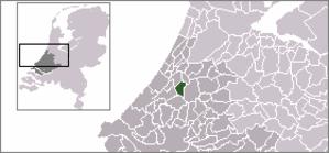 Zoeterwoude-Dorp - Image: Locatie Zoeterwoude