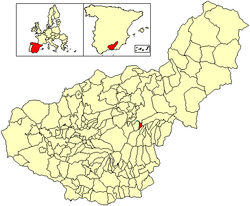 Location of Albuñán