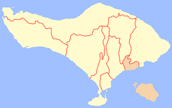Location of Klungkung Regency in Bali