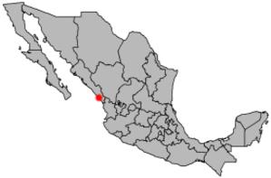 1943 Mazatlán hurricane - Location of Mazatlán within Mexico