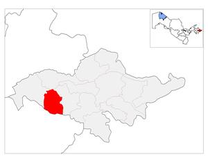 Boz District - Image: Location of Bo'z District in Andijon Province